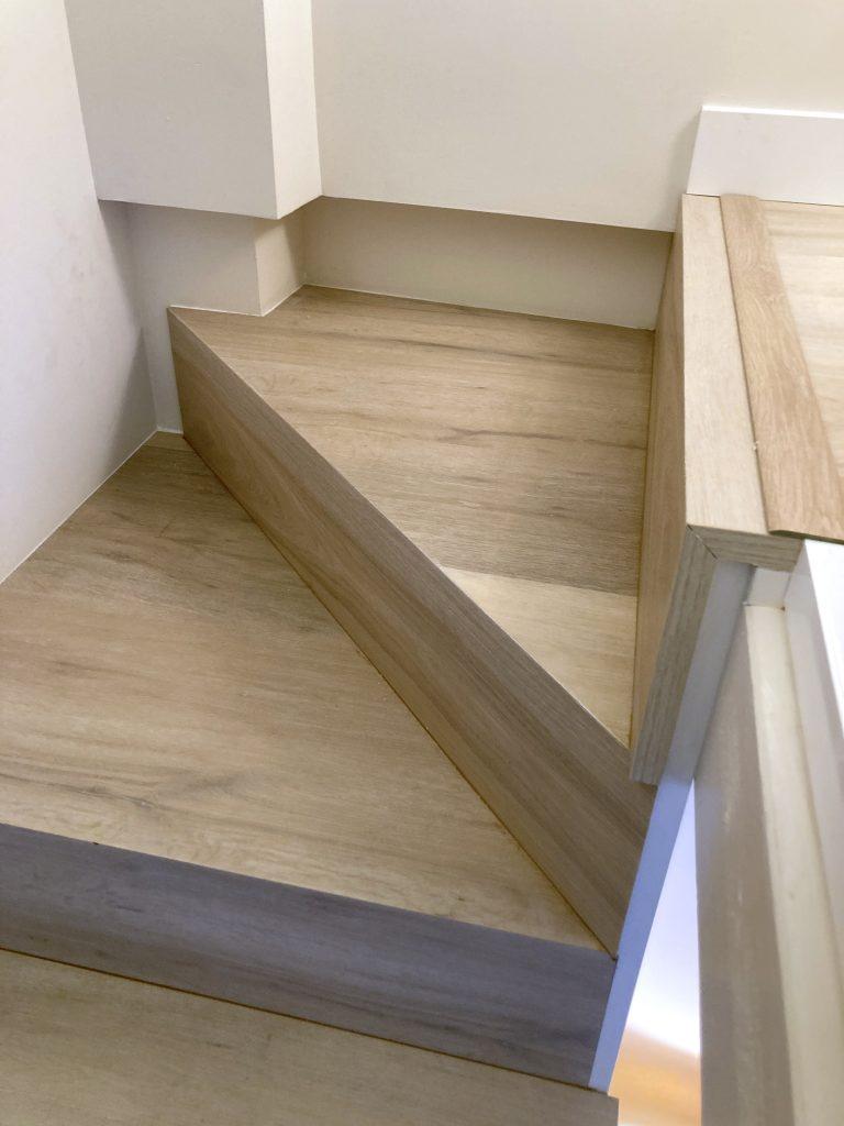 terminación de la escalera