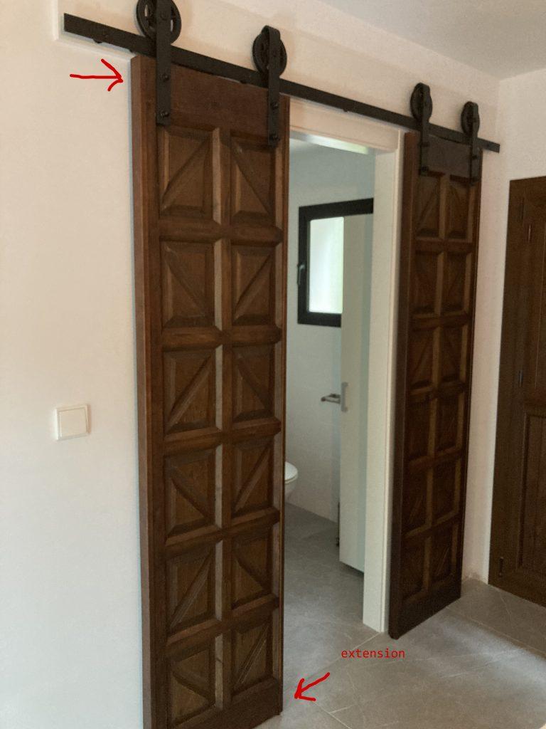 restauración de la puerta